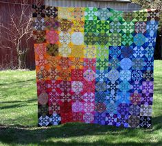 A Rainbow of Kaleidoscopes - It's a Top - Sane, Crazy, Crumbly Quilting