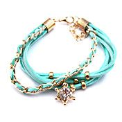Multilayer Colorful Zircon Handmade Leather B... – USD $ 2.99