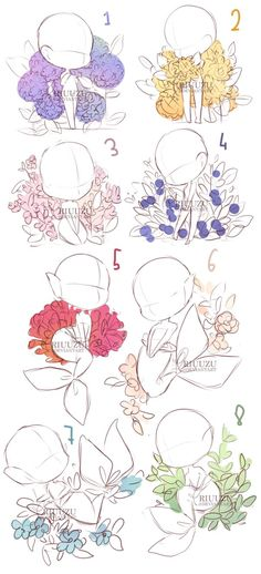 I basically took all sketches I had laying around and put them together with these plant/flower-backgrounds (*´▽`*) Ah, I don't want them to waste haha orz MERMAID B...
