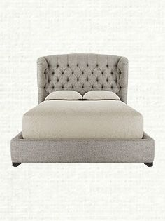 Mariah Tufted Upholstered Queen Bed In Taft Pewter And Fossil From Arhaus Furniture On Catalog Spree