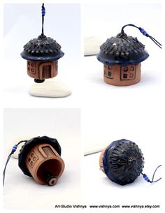 Rustic Blueberry House -- Ceramic Bell by vavaleff on deviantART