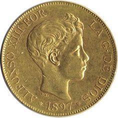 Moneda de oro 100 Pesetas Alfonso XIII 1897*97 SG-V.