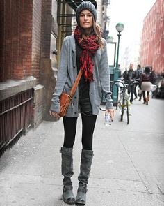 Winter layering look