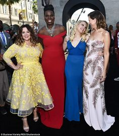 The team: She soon joined her co-stars Melissa McCarthy, Leslie Jones and Kate McKinnon fo...