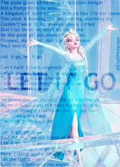 """""""Let It Go"""" from Disney's """"Frozen''. Demi Lovato sings this song!! <3"""