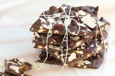 Love this combination of ingredients in a bark - pretzels, cranberries and toasted coconut
