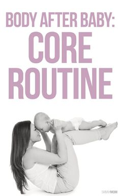 If you're a new mom, here's the perfect postpartum friendly workout for your core.