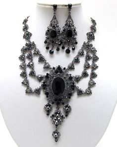 Luxury Class Victorian Style Austrian Crystal Party Necklace ERRING Set | eBay