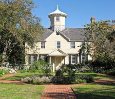 """Surviving Through the Centuries"" - ""For over two and a half centuries, the Cupola House has stood watch from the north shore of Edenton Bay. It was built in 1758 by Francis Corbin, land agent for John Carteret, Earl of Granville. Carteret was one of the last famous Lords Proprietors who, in the 17th century, acquired vast territories south of Virginia from King Charles II....  Dr. Samuel Dickinson purchased the house [in1768]. His descendants called the Cupola House home for over 141 years."""