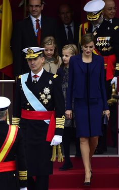 Spanish Royals Attend National Day Military Parade 2015 on October 12, 2015 in Madrid, Spain.