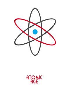 atomic age logo. Jogodesign. 2016