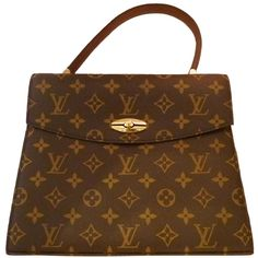 Vintage Louis Vuitton Hand Bag ❤ liked on Polyvore featuring bags, handbags, louis vuitton, purses, hand bags, leather purses, brown purse, leather man bags and vintage handbags