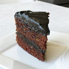 Dark Chocolate Avocado Cake with Chocolate Avocado Frosting   | MyRecipes.com