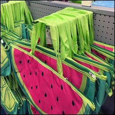 Best displayed spread wide for maximum visibility inspired this Watermelon and Lime Beach Carry Twin Hooked display on the Gondola Carry On, Watermelon, Hooks, Gym Bag, Twins, Display, Beach, Floor Space, Hand Luggage
