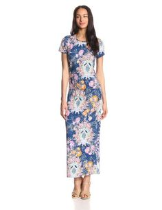 Juicy Couture Women's Summer-Breeze Short-Sleeve Maxi Dress with Belt