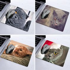 Personalized Winking Cat Natural Rubber Mouse Pad Computer Mouse Mat 180mmX220mmx2mm and 250mmx290mmx2mm
