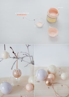 Make your own colored Christmas ornements // Faites vos propres Boules de noël colorés ^^