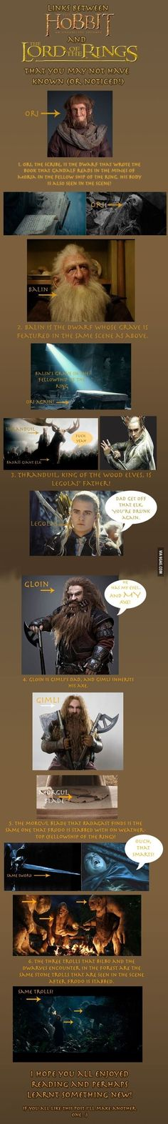 Links between The Hobbit & The Lord of the Rings