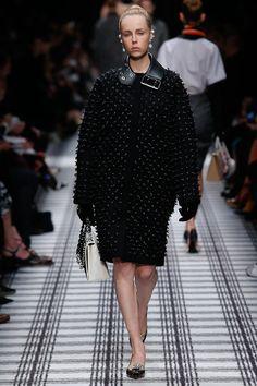 "Balenciaga fall'15. God that black coat! Feels rebellious, luxurious, unique. Love the ""belt"" collar."