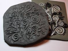 texture making with scrap clay