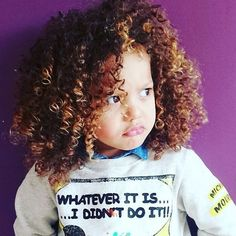 too much cuteness! Natural Hair Types, Natural Curls, Curly Hair Styles, Kids Fashion, Treats, T Shirts For Women, Cute, Beauty, Beautiful