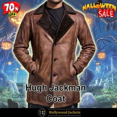 #Halloween Hot offer Get 70% #Movie X-Men Wolverine #HughJackman Shearling Brown Leather Coat. #HalloweenSale #Halloween #Sale #2021 #OOTD #Style #Cosplay #Costum #men #fashionstyle #women #coat #shopnow #Clothes #leather #discountoffer #outfit #tvseris #onlineshopping #discount #buymypremium #celebrities #offers #fashion #movie