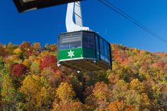 You just can't get enough of the Smoky Mountains in the fall. See them from every angle on the Ober Gatlinburg tram. Ober Gatlinburg, Gatlinburg Tennessee, Great Smoky Mountains, Bed And Breakfast, Tudor, Things To Do, National Parks, Vacation, Fall
