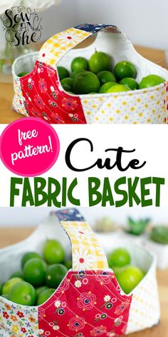 Enjoy sewing this cute free pattern fabric basket to take you stress away. Based on Amy's blog (Diary of a Quilter), this free pattern is made of 6 charm squares of patchwork. Fill your fabric basket with things you adore. #basket #fabricbasket #diybasket #sewingpattern #sewingfreepattern #freepattern #diyfabricbasket Easy Sewing Projects, Sewing Tutorials, Sewing Hacks, Sewing Ideas, Sewing Crafts, Sewing Patterns, Fabric Boxes, Fabric Basket, Pattern Fabric