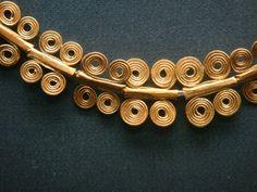 Detail, Mycenaean Golden Necklace  7th BC