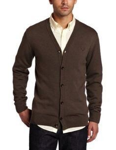 Fred Perry Men's Cardigan Price: 	$61.97 - $85.00 -    54% Merino Wool/46% Cotton -    Machine Wash -    Cardigan -    Made in China