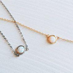 Cute opal necklaces!