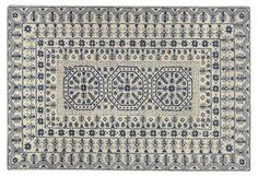 Cisco Rug, Ivory/Midnight Blue | Simply Classic | One Kings Lane