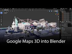 (59) Google Maps 3D: Data into Blender - YouTube Blender 3d, How To Use Blender, Blender Models, Animation Stop Motion, 3d Animation, Character Modeling, 3d Modeling, 3d Character, Character Concept