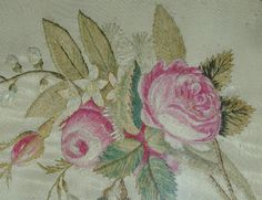 Embroidery pink roses MA