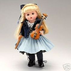 Madame Alexander Practice Makes Perfect Doll with Violin, NRFB, 37885 Madame Alexander Dolls, Violin, Harajuku, Best Deals, Collection, Fashion, Moda, Fashion Styles, Fashion Illustrations