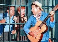 """Lucille Ball, Desi Arnaz, Tennessee Ernie Ford. I Love Lucy """"Tennessee Bound"""" - 1955"""