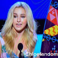 Chloe!!!!!  Loved her speech.
