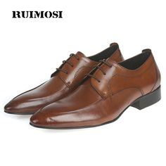 RUIMOSI New Arrival Formal Man Bridal Dress Shoes Genuine Leather Wedding Oxfords Brand Pointed Toe Derby Men's Footwear YD74