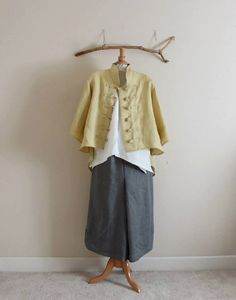 handmade linen jacket size XS to 6XL от linenclothingbyanny