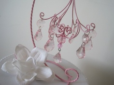 Customize Your Chandelier Cake Topper MADE TO ORDER. $37.00, via Etsy.