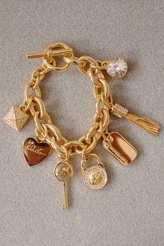 Michael Kors Pave Rhinestone Charm Bracelet In Gold - Beyond the Rack