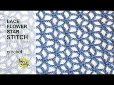 Crochet lion's foot flower stitch- by Oana - YouTube
