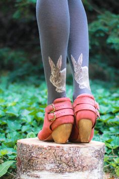 The realistically adorable bunnies are peaking out of back of the ankles, how can you resist? Made with non-toxic color threads. - One Size: Height 5'0''-5'8'', Weight 100lb - 185 lb - 49% Cotton, 28% Acrylic, 21% Nylon, 2% Spandex - Made in Japan - Machine wash warm, tumble dry low