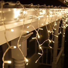 Wintergreen Lighting 70 Warm White Twinkle 5mm LED Icicle Christmas Lights -- For more information, visit