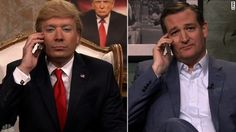 "(SNL) Ted Cruz appeared on ""The Tonight Show Starring Jimmy Fallon"" and took advice from ""Donald Trump"" who was played by Fallon."