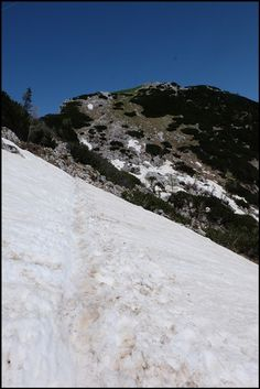 Schneefeld Debela pec Slowenien