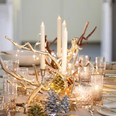 """Thinking ahead to Thanksgiving and getting a little fancy with this golden hour tabletop."""