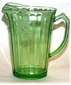 Fruits Pitcher - (Crystal-1931-1935) by Jeannette