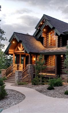 My main dream home. I have wanted a log home for as long as I can remember.