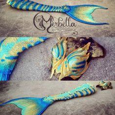 Tail made by Marbella Studios: https://www.facebook.com/MerBellaStudios. BLENDED WAIST, BLUE, FULL SILICONE, GOLD, MERBELLA, MERBELLA SCALES, NEW MERBELLA, SPOTS, STRIPES, TURQOUISE